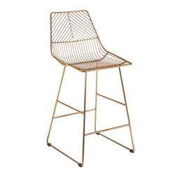 Image: District Gold Wire Bar Stool