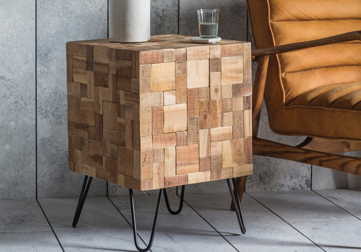 Image 1: Mosaic Side Table