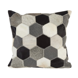 Image: Hex Black / White / Grey Cushion Cover