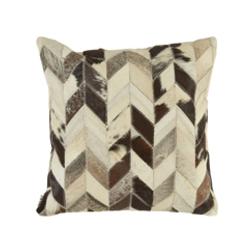 Image: Safira Black / White Patchwork Cushion Cover
