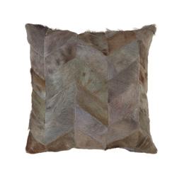 Image: Safira Light Grey Patchwork Cushion Cover