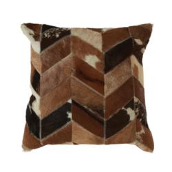 Image: Safira Natural Patchwork Cushion Cover