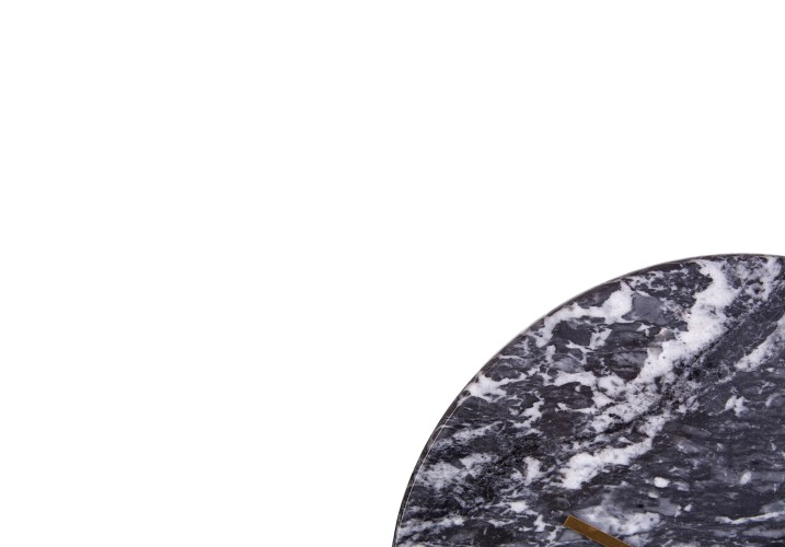 Image 1: Lamonte Black Marble Wall Clock