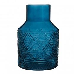 Image: Dakota Dark Blue Glass Vase
