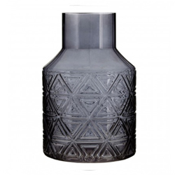 Image: Dakota Dark Grey Glass Vase