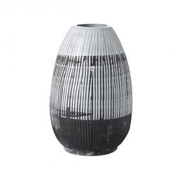 Image: Ansel Vase Black & White Small