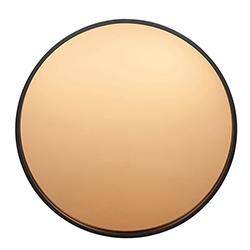 Image: Am Black & Copperwood Round Wall Mirror