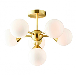 Image: Oscar 6 Ceiling Light Brushed Gold