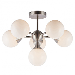 Image: Oscar 6 Ceiling Light Nickel