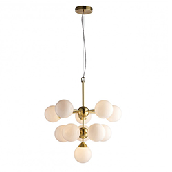 Image: Oscar 11 Pendant Light Brushed Gold