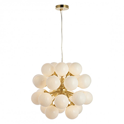Image: Oscar 28 Pendant Light Brushed Gold