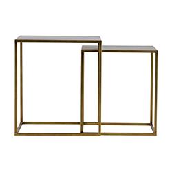 Image: Zara Set Of 2 Antique Brass Side Tables