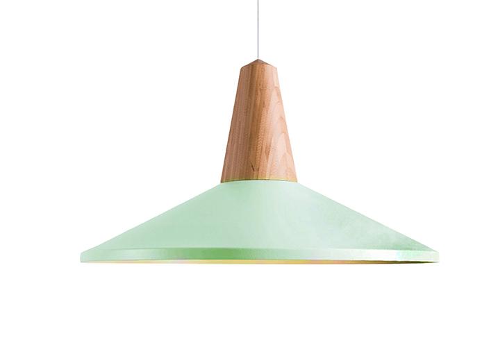 Image 0: Eider Shell Pendant Light Green