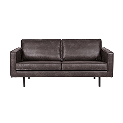 Image: Pablo 2.5 Seater Leather Sofa In Black
