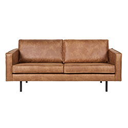 Image: Pablo 2.5 Seater Leather Sofa In Cognac