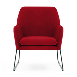 Image: Adams Arm Chair Red