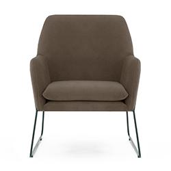 Image: Adams Arm Chair Dark Grey