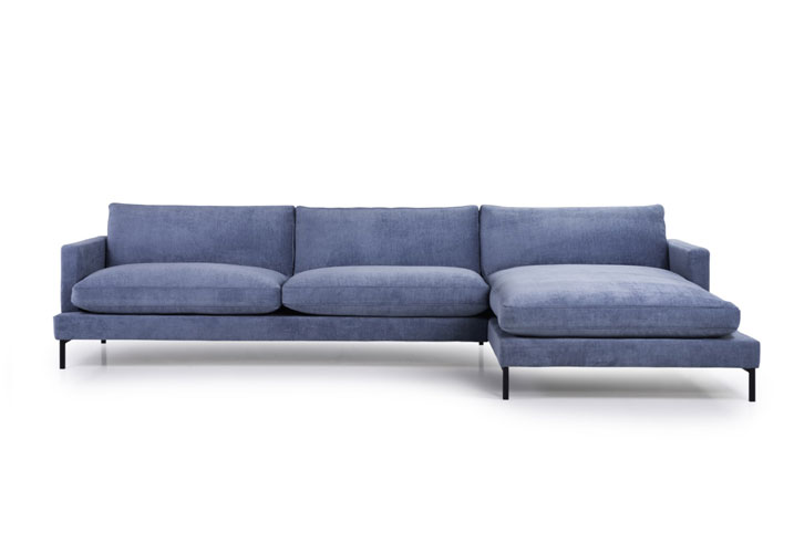 Image 0: Monty Luxury Fillings Chaise Right Blue