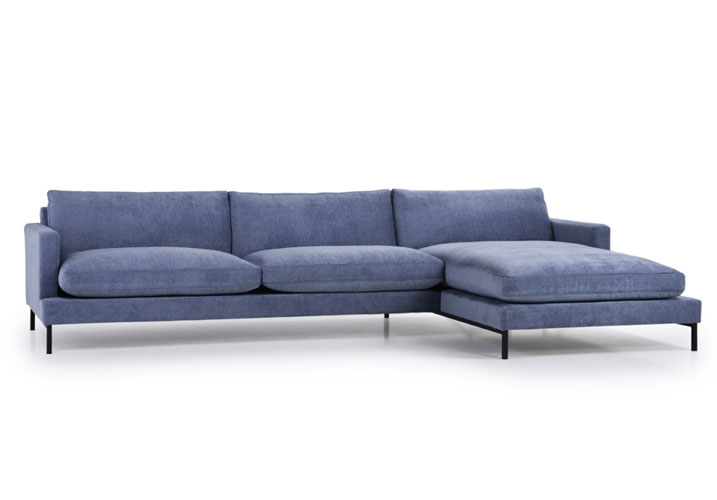 Image 1: Monty Luxury Fillings Chaise Right Blue