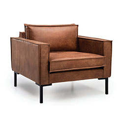 Image: Bratt Armchair Brown Leather