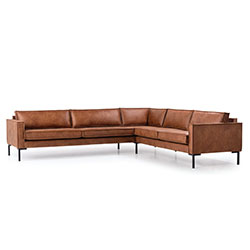 Image: Bratt Corner Brown Leather Left