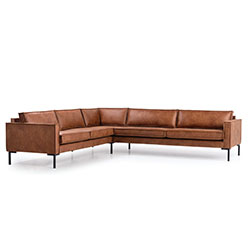 Image: Bratt Corner Brown Leather Right