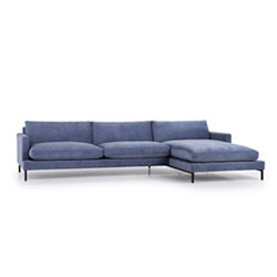 Image: Monty Luxury Fillings Chaise Right Blue