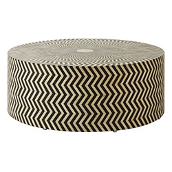 Image: Infusion Buffalo Bone Round Table