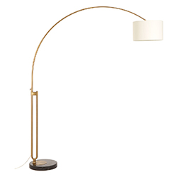 Image: Huey Brass Finish Arc Floor Lamp