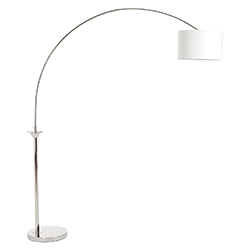 Image: Huey Nickel Finish Arc Floor Lamp