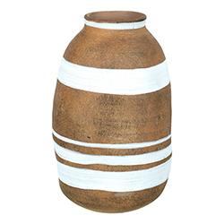 Image: Jericho Vase Russet & White Small