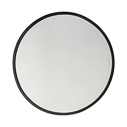 Image: Higgins Round Mirror Black Large