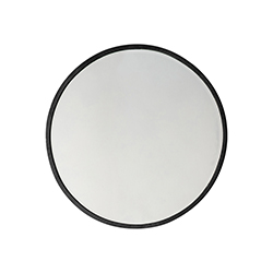 Image: Higgins Round Mirror Black