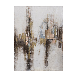 Image: Gilded Abstract Art Canvas
