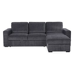 Image: Ella Chaise Longue Sofa Bed Grey