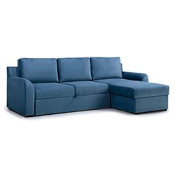 Image: Ella Chaise Longue Sofa Bed Blue
