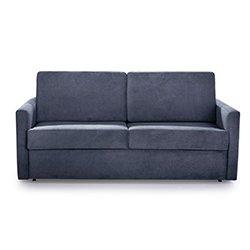 Image: Silver Luxury Sleep Sofa Bed Dark Grey