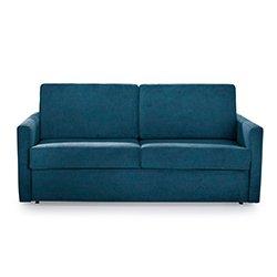 Image: Silver Luxury Sleep Sofa Bed Blue