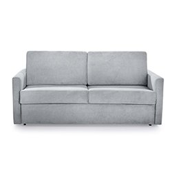 Image: Silver Luxury Sleep Sofa Bed Grey