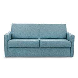 Image: Silver Luxury Sleep Sofa Bed Light Blue