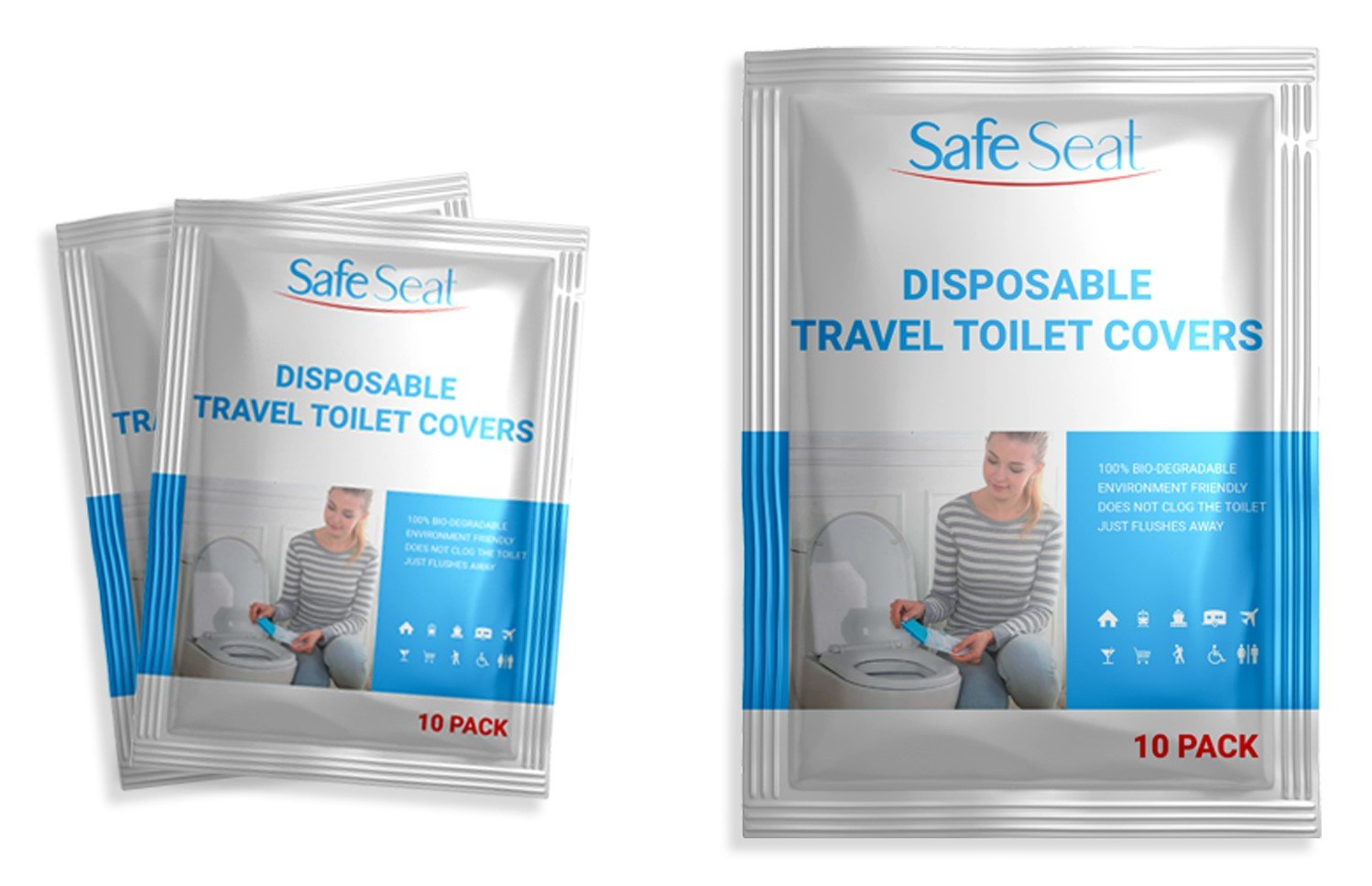 Disposable Paper Seat Covers (Travel Pack)