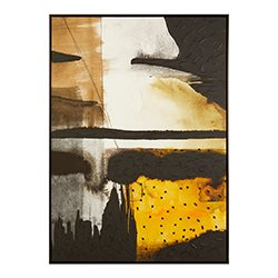 Image: Stratto Black/Ochre Wall Art
