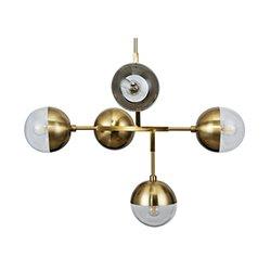 Image: Globe Hanging Lamp Metal Antique Brass
