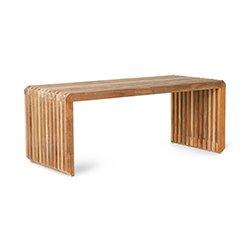 Image: Element Slatted Bench Teak
