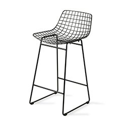 Image: Hec Black Wire Bar Chair