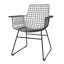 Image: Hec Black Wire Chair With Arms