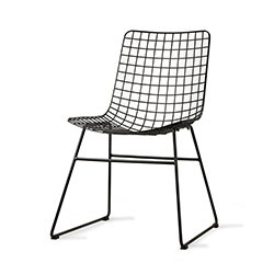 Image: Hec Black Wire Chair
