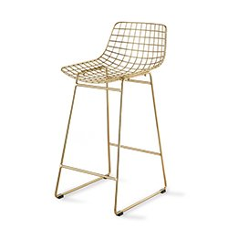Image: Hec Gold Wire Bar Chair