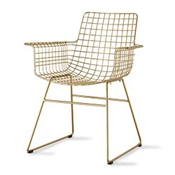 Image: Hec Gold Wire Chair With Arms