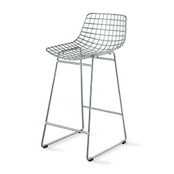 Image: Hec Silver Wire Bar Chair